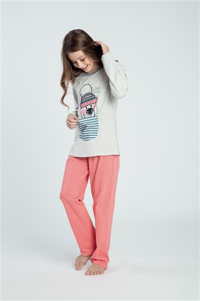 Pijama juvenil comprido de malha
