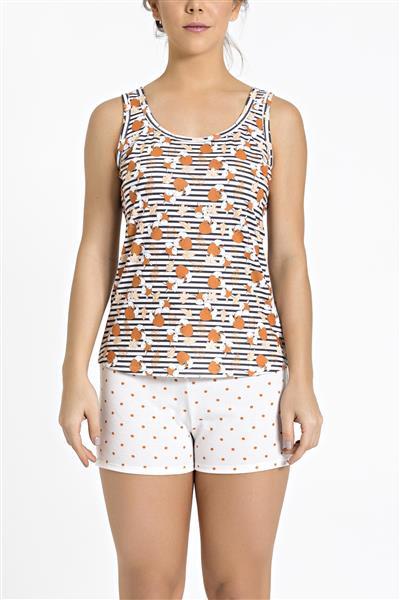 Pijama regata de malha 100% algodão