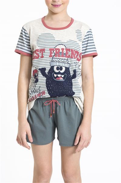 Pijama juvenil de malha algodão
