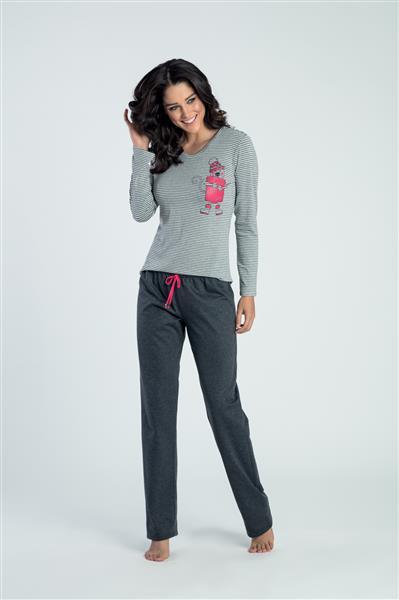 Pijama comprido de viscoflex e malha