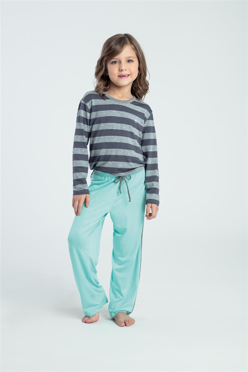 1a7a769610ccc Pijama infantil de viscoflex e viscose - Baunilha