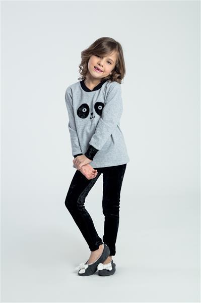 Pijama infantil flanelado com legging