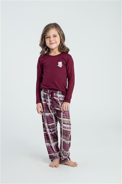 Pijama infantil comprido de viscose