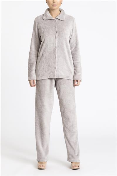 Pijama feminino aberto e peluciado