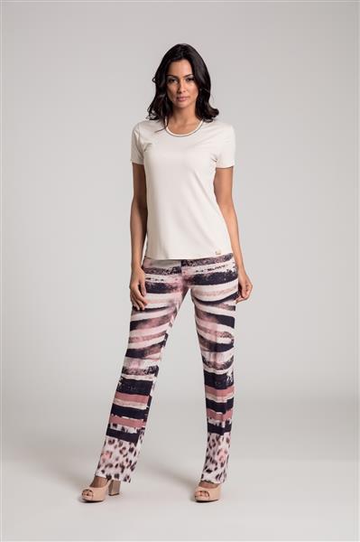 Pijama comprido em viscose e microfibra