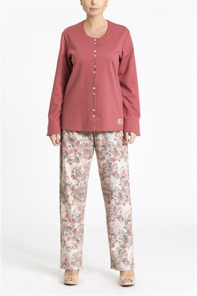 Pijama longo aberto flanelado