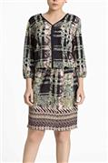Vestido de crepe tricot