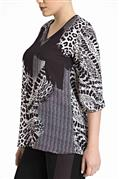 Blusa de crepe tricot