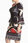 Vestido de neoprene e crepe