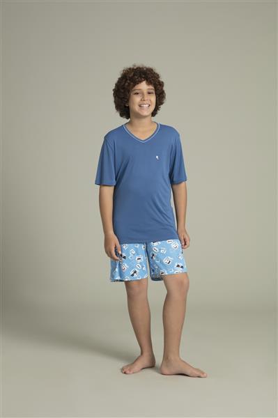 9b442c941aaf7d Pijama masculino juvenil de microfibra Amni - Compre agora | Recco ...