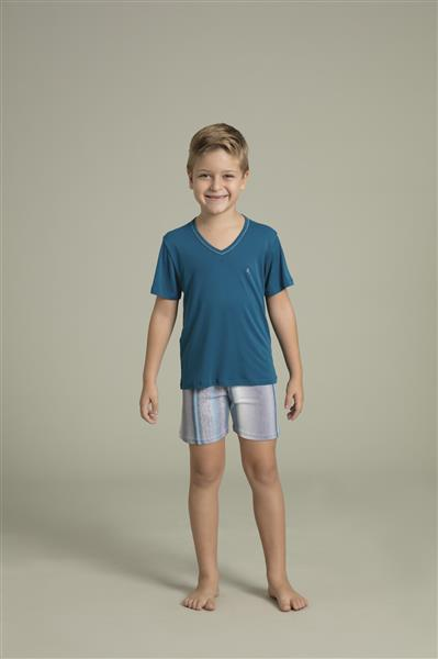 a9572380b4cd98 Pijama masculino infantil de microfibra Amni - Compre agora | Recco ...