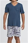 Pijama masculino infantil de microfibra Amni