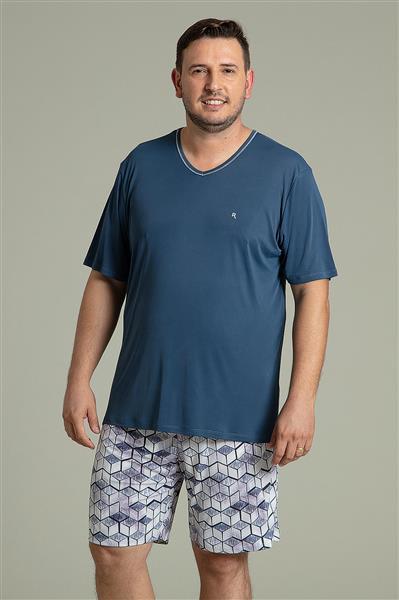 f441ced34c6983 Pijama masculino plus size de microfibra Amni - Compre agora | Recco ...