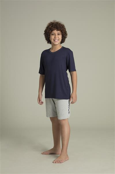 Pijama masculino juvenil de viscose