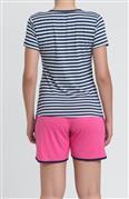 Pijama curto de viscoflex e Viscose