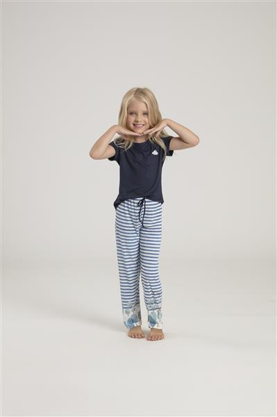 Pijama infantil de viscose e microfibra