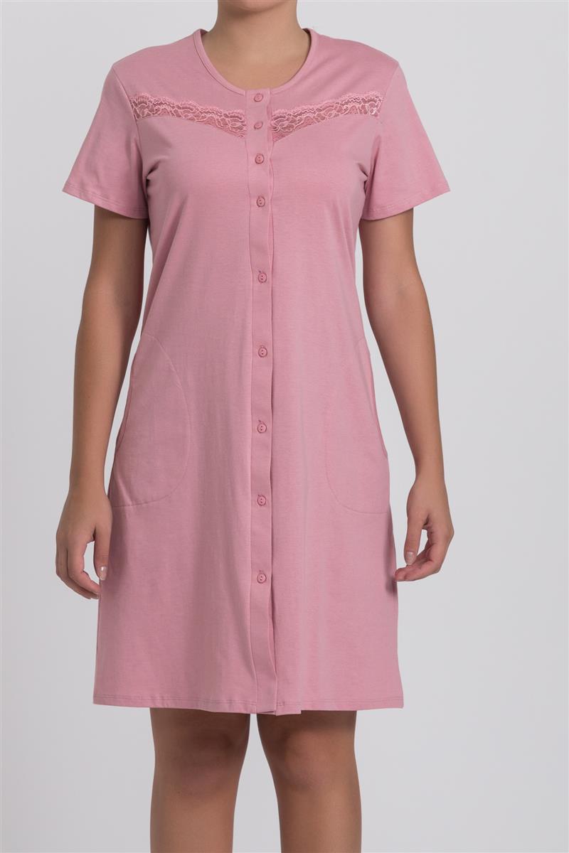 fd7be04db554a4 Camisola manga curta aberta em algodão - Compre agora | Recco Lingerie