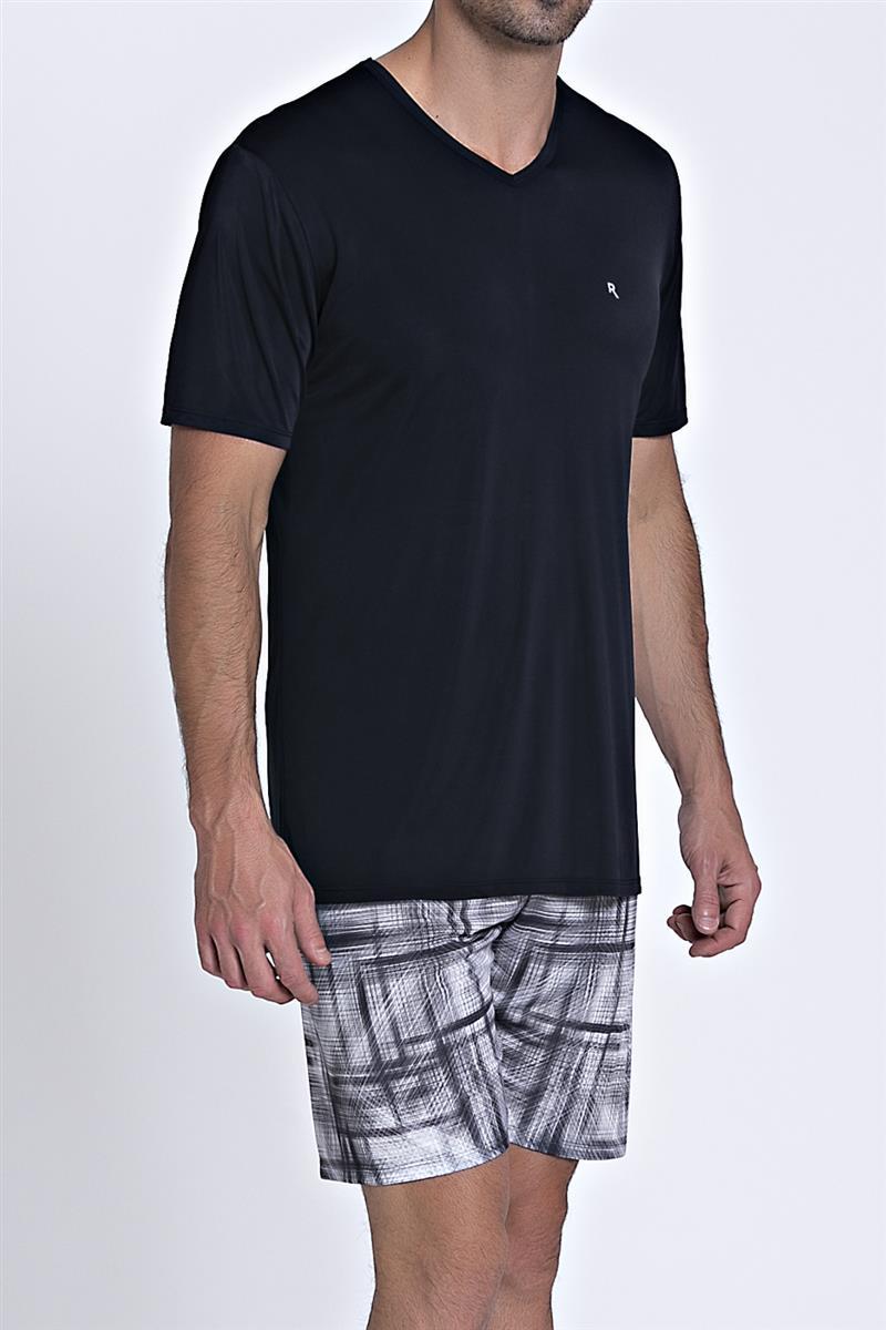 4381afdab903d2 Pijama Masculino de Microfibra Amni Coleção Lab - Compre agora ...