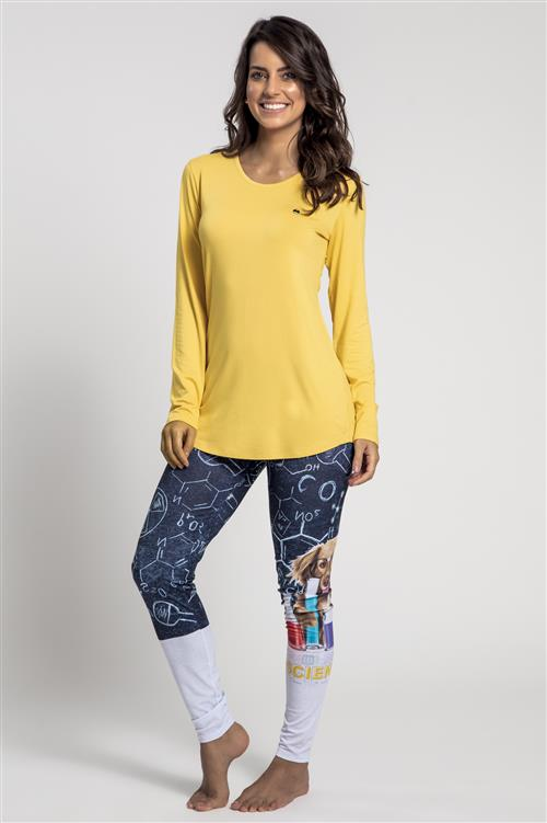 f12ececf3181e0 Pijama comprido de viscose e legging malha touch - Compre agora ...