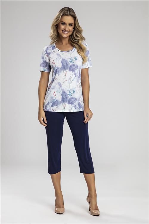 09e1617a033e01 Pijama capri em microfibra amni - Compre agora | Recco Lingerie